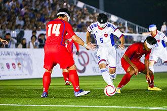 ブラインドサッカー(視覚障害者5人制サッカー)の画像